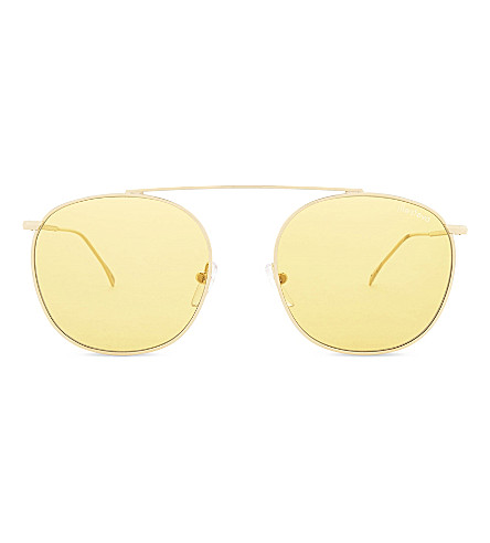 ILLESTEVA Mykonos II aviator sunglasses (Gold+with+honey