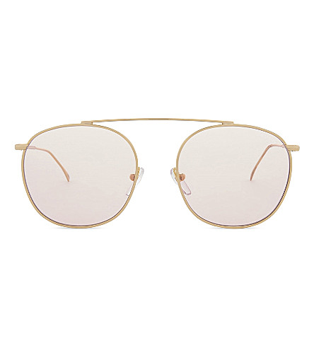 ILLESTEVA Mykonos II aviator sunglasses (Gold+with+dusty+pink
