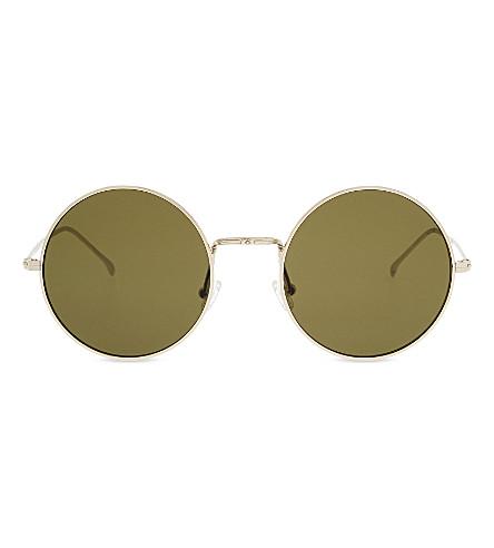 ILLESTEVA Porto Cervo round-frame sunglasses (Gold with olive l