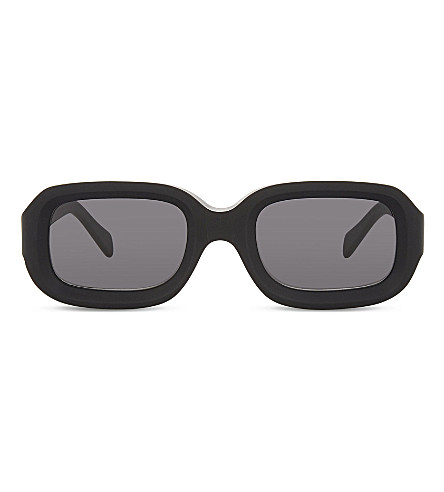 ILLESTEVA Vinyl rectangle-frame sunglasses (Matte+black