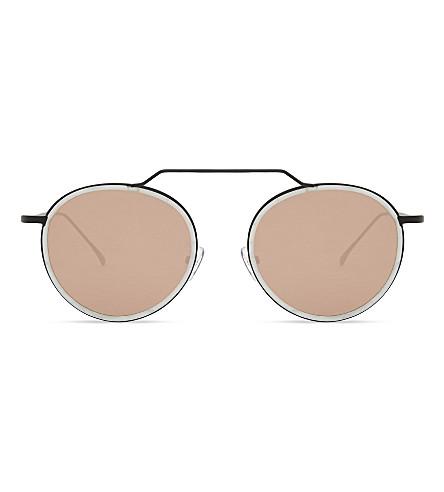 ILLESTEVA Wynwood Ace round-frame sunglasses (Pearl
