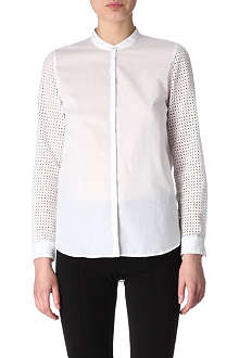 HUGO BOSS Broderie-sleeves shirt
