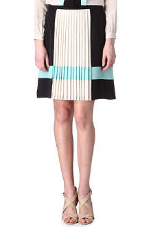 HUGO BOSS Pleated stripe skirt