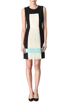 HUGO BOSS Pleat stripe dress