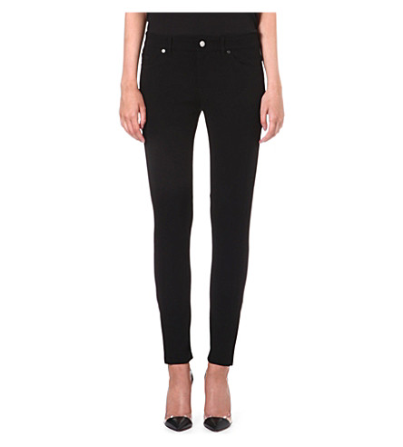 HUGO BOSS Alyna slim straight-leg mid-rise jeans (Black
