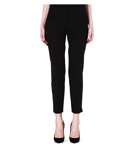 HUGO BOSS Avonia cropped trousers (Black