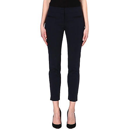 HUGO BOSS Avonia cropped trousers (Navy