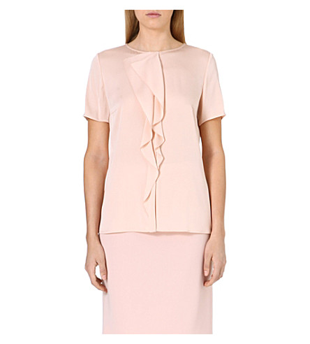 HUGO BOSS Ruffle t-shirt (Blush