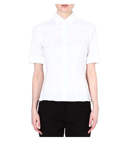 HUGO BOSS Bashini folded-sleeve shirt (White