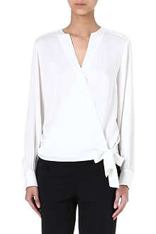 HUGO BOSS Tie-detail silk top