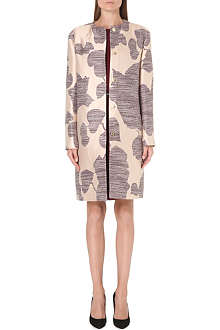 HUGO BOSS Calim floral-jacquard coat