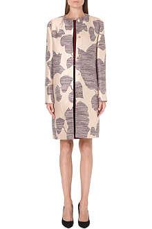 HUGO BOSS Calim floral-jacquard coat