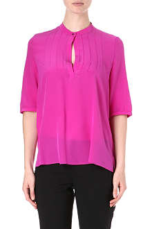 HUGO Silk short sleeve blouse