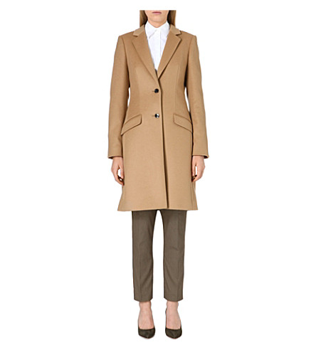 HUGO BOSS Cavira wool-blend coat (Camel