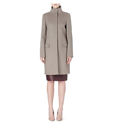 HUGO BOSS Celira wool and cashmere coat (Grey