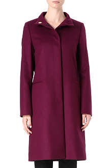 HUGO BOSS Funnel-neck wool and cashmere coat