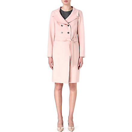 HUGO BOSS Double-breasted wrap coat (Blush