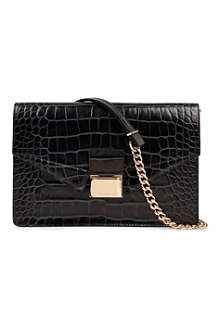 HUGO BOSS Cheida-C mock-croc leather cross-body bag