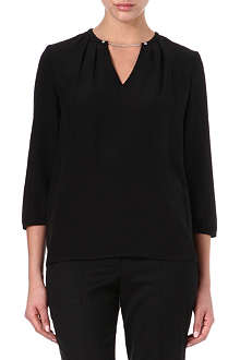 HUGO Chain-neck blouse