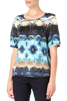 HUGO Citta-2 printed silk top