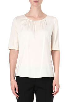 HUGO Clissa silk-blend top