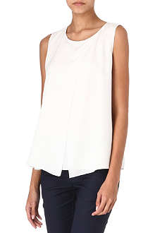HUGO BOSS Cresta draped silk top