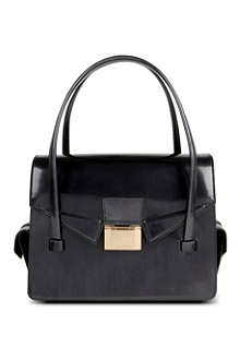 HUGO BOSS Leather shoulder front-clasp bag