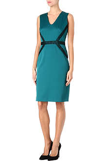 HUGO BOSS Dart detail satin dress