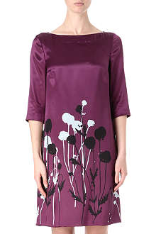 HUGO BOSS Silk half-sleeve floral dress