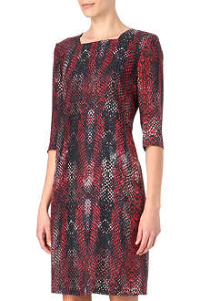 HUGO BOSS Dacime1 snake-print silk dress