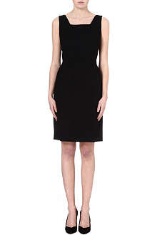 HUGO BOSS Wool-blend shift dress