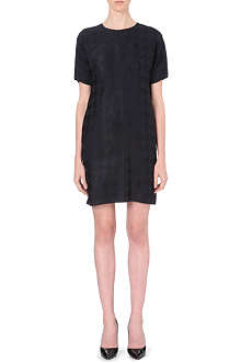 HUGO BOSS Dahakira houndstooth jacquard dress