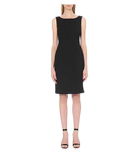 HUGO BOSS Dallasa stretch-wool dress (Black