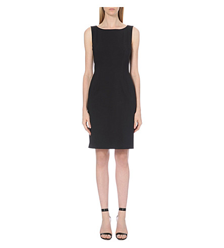 HUGO BOSS Dallasa stretch-wool dress (Navy