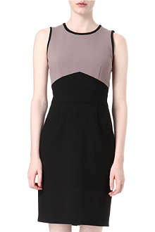 HUGO BOSS Two-toned sleeveless dress