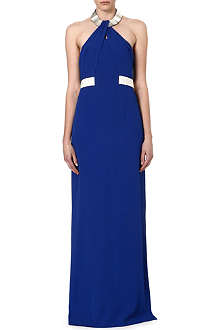 HUGO BOSS Damazona halterneck gown