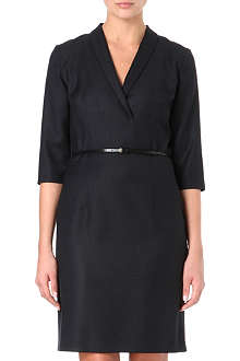 HUGO BOSS Wool-blend shirt dress