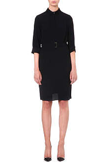 HUGO BOSS Midi crepe shirtdress