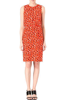 HUGO BOSS Patterned silk dress
