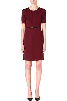 HUGO BOSS Fitted belt dress