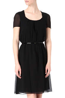 HUGO BOSS Silk floaty belted dress