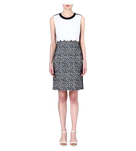 HUGO BOSS Deleva embroidered dress (Navy / white