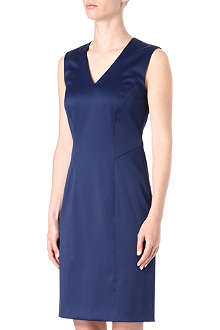 HUGO BOSS Sleeveless fitted satin dress