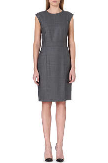 HUGO BOSS Stretch-cotton shift dress