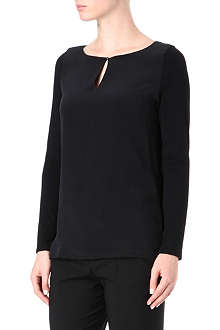 HUGO Long-sleeved jersey keyhole top