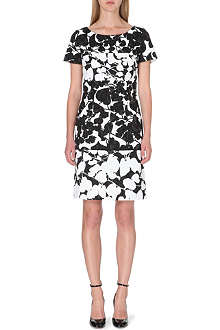 HUGO BOSS Devida Floral-print cotton-blend dress