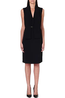 HUGO BOSS Dicama belted crepe dress