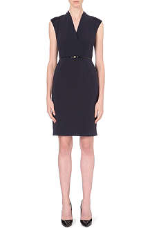 HUGO BOSS Difena v-neck belted dress