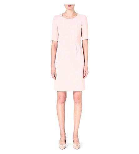 HUGO BOSS Tailored pleat dress (Blush