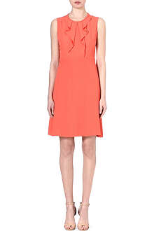 HUGO BOSS Dilenka ruffle-front dress